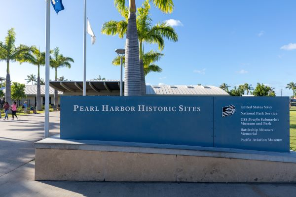 Pearl Harbor visitor center entrance