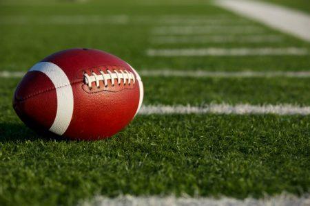 ball on a football field