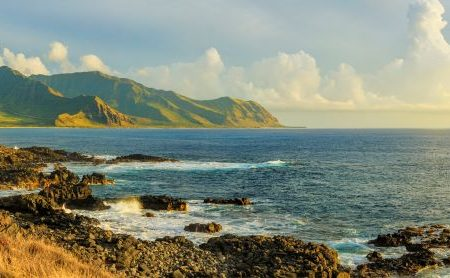 Ka'ena point State Park on the northwestern tip of Oahu, Hawaii
