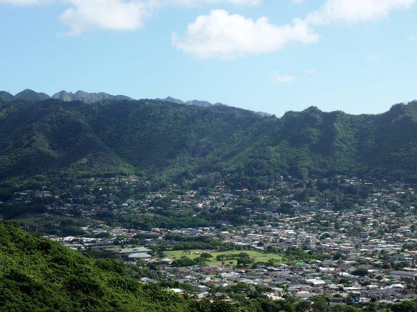 View of Manoa Valley in Honolulu, Hawai'i