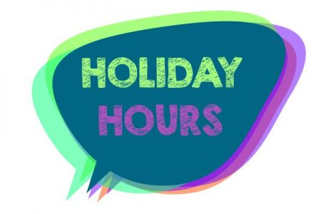 Holiday Hours balloon