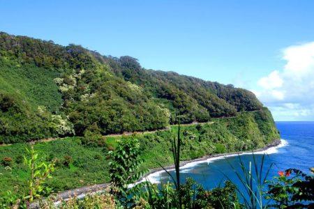 Coastline along the Road to Hana, Maui