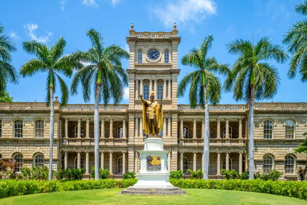 Ali'iōlani Hale, Hawaii State Supreme Court Building and statue of Kamehameha the Great