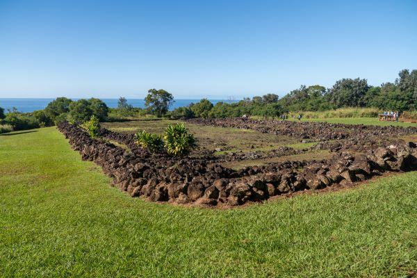 Stone structure at Pu'u o Mahuka Heiau State Historic Site