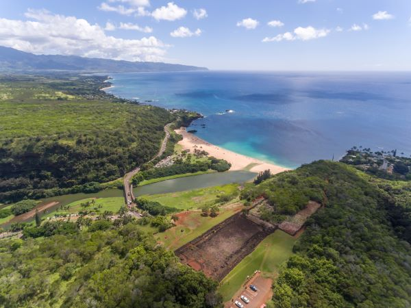 View from the cliffs above Waimea Bay