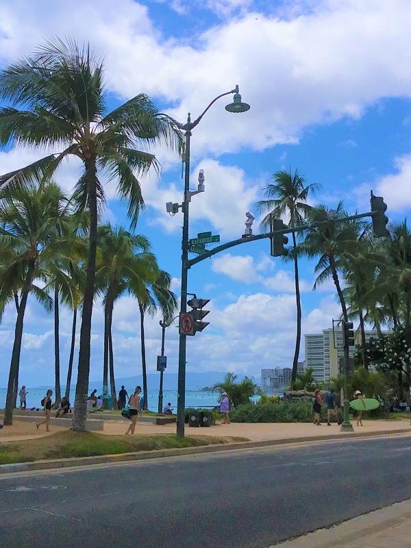 Intersection of Kapahulu and Kalakaua Avenues in Waikiki