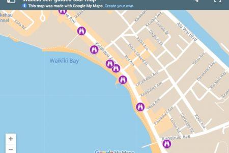 Waikiki self-guided tour map