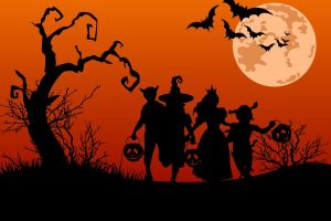 trick or treat characters on halloweeen